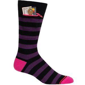 NWT Stash/Pocket Socks with Zipper Pocket